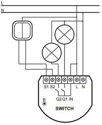 Fibaro Z Wave In Wall Double Relay Switch on wiring a light switch nz diagram